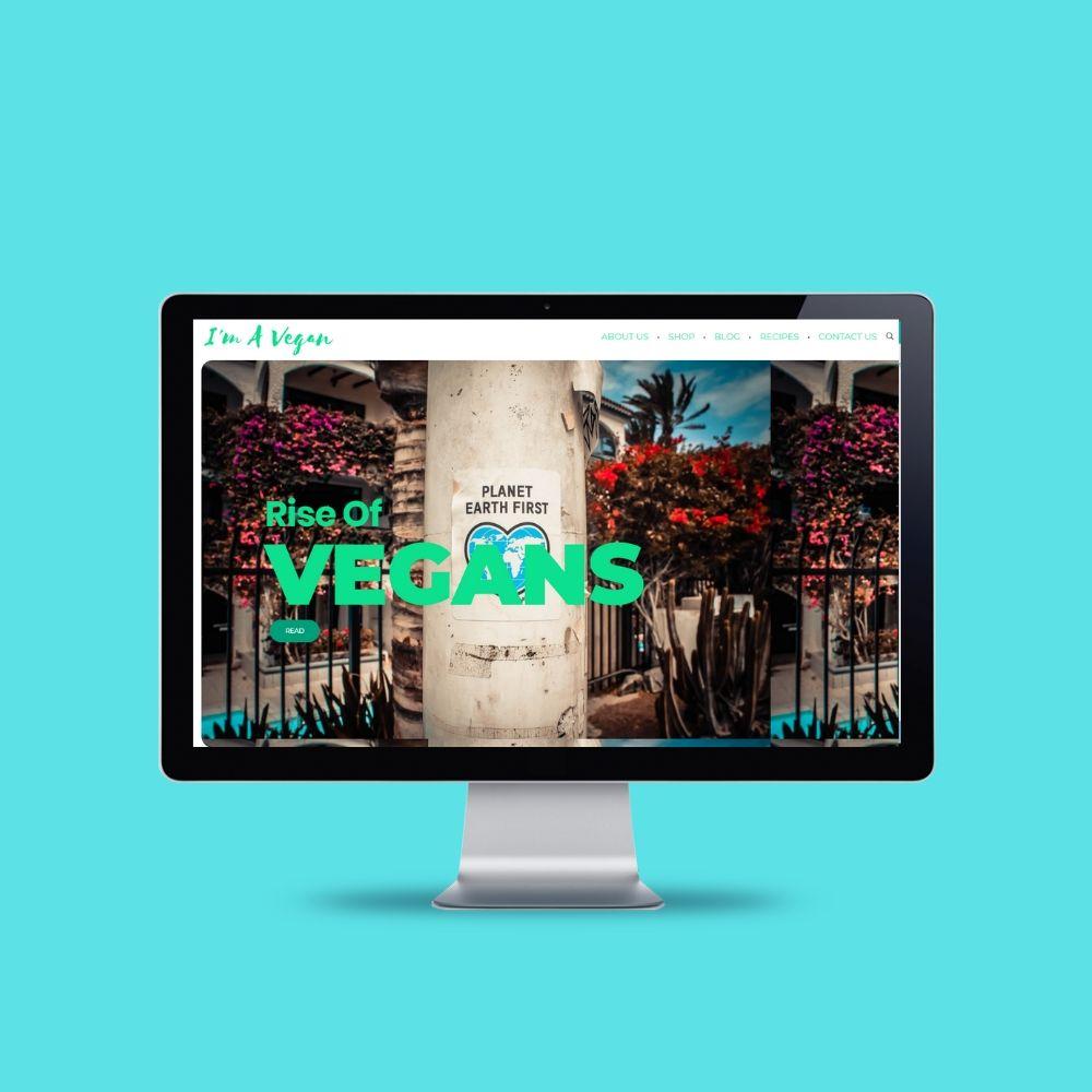 Imavegan Website Portfolio Homepage